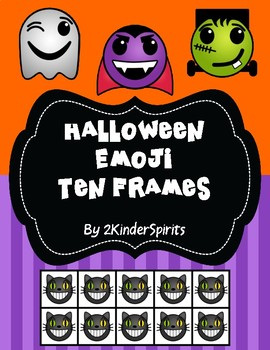 Halloween Emoji Ten Frames