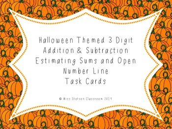 Halloween Estimating Sums & Differences