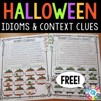 Halloween FREE: Halloween ELA Games
