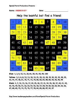 Halloween - Bat - Hundreds Chart!