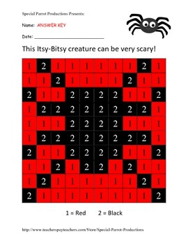 Halloween FREE - Spider - Color by Numbers!