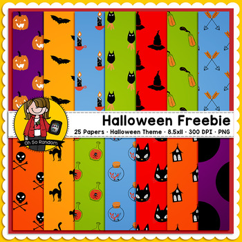 Halloween FREEBIE {Digital Papers for Commercial Use}