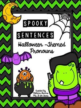 **FREE** Halloween Writing Sentences with Pronouns