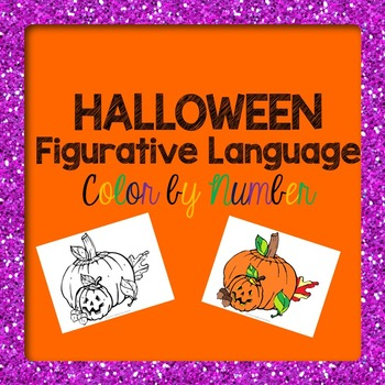Halloween Figurative Language Color by Number