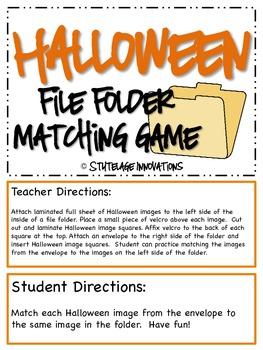 Halloween File Folder Matching Game