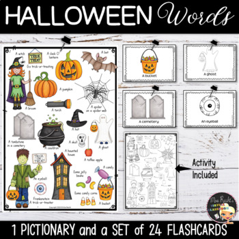 Halloween Flashcards and Story Writing