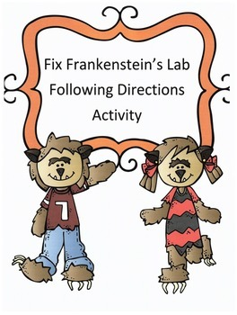 Halloween Following Directions Activity: Have Kids Fix Fra