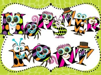 Halloween Font 2 - Monster Font - Fun Font - Personal & Co