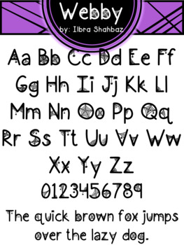 Halloween Font: Webby - Personal and Commercial Use