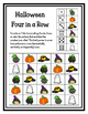 Halloween Four in a Row Game Freebie