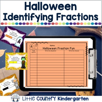 Halloween Fraction Task Cards: Identifying Fractions Shade
