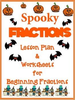 Halloween Fractions for 1st Grade