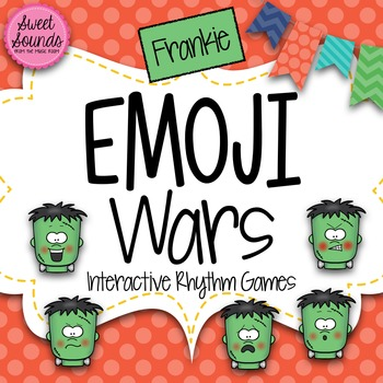 Halloween Frankie Emoji Wars Ta Tadi Titi {Interactive Rhy