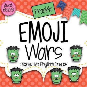 Halloween Frankie Emoji Wars Taah Half Note {Interactive R