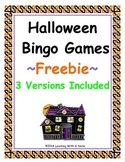Halloween FREEBIE  Bingo-Style Word Game: Cut & Paste Vers