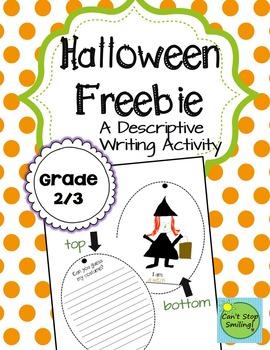Halloween Freebie  Descriptive Writing Guess My Costume