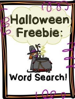 Halloween Freebie: Word Search