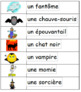 L'halloween: French Halloween Vocabulary and Writing Activities