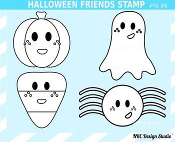 Halloween Friends Digital Stamp Clip Art