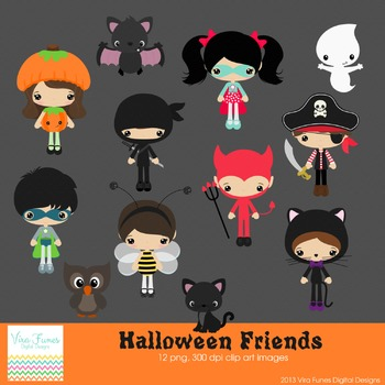 Halloween Friends Series 2 clip art