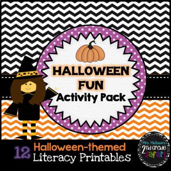 Halloween Fun Activity Pack-12 Literacy Printables