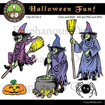 Halloween Fun Clip Art Set 3