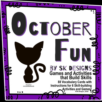 Halloween October Fun Activities to Build Skills with 88 V
