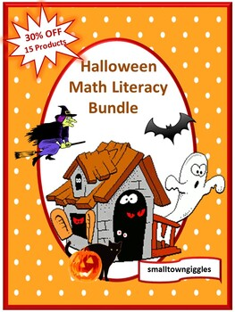 Halloween Bundle NO PREP/LOW PREP Math and Literacy Center