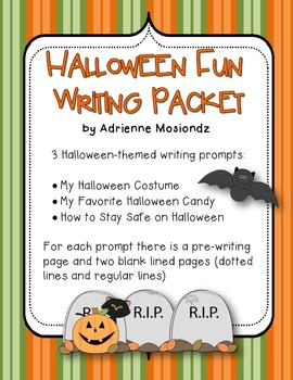 Halloween Fun {writing packet}
