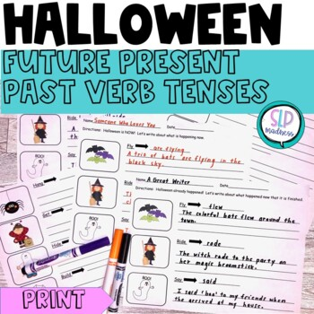 Halloween Future, Present & Past Tense Verb Sentences