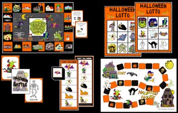 Halloween Games (Set of 5 games)