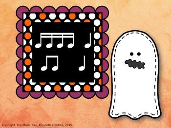 Halloween Ghost Rhythm - Sixteenth Notes