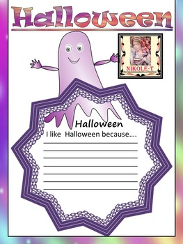 Halloween Activities - Ghosts - Writing Activity and Bulle