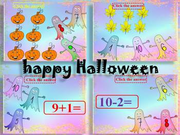 Halloween Activities - Addition and Subtraction to 10 - Po