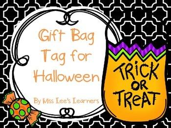 Halloween Gift Bag Tag: Bugs and Kisses