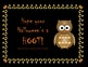 Halloween Gift Tag Labels Owl Themed