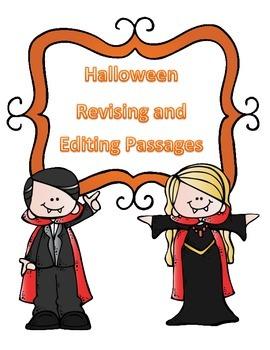 STAAR Halloween Grammar Passages: Revising Passage and Edi