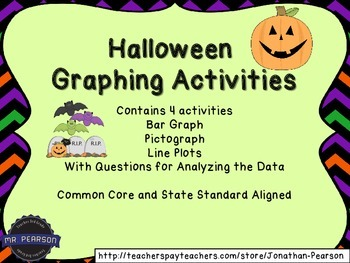 Halloween Graphing Activities - Four Graphs for Teaching o