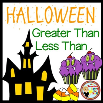 Halloween Math - Compare Numbers on Ppt!   Great fun for S