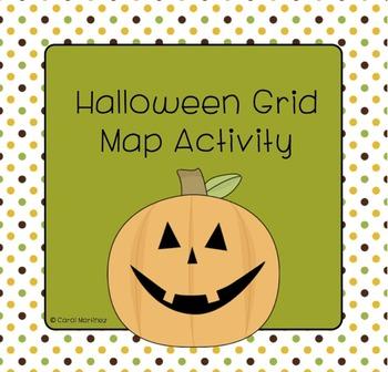 Halloween Grid Map Activity
