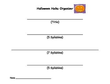 Halloween Haiku Organizer
