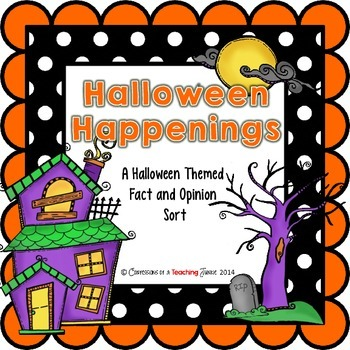 Halloween Happenings - Fact and Opinion Sort