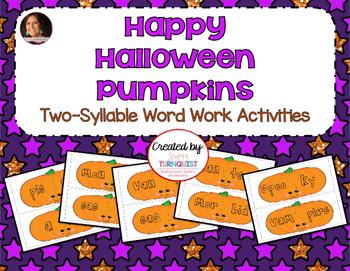Halloween Happy Pumpkin Syllable Word Work Activity