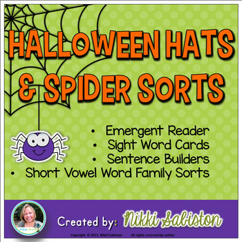 Halloween Hats and Spider Sorts