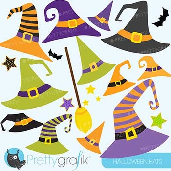 Halloween Hats clipart, commercial use, vector graphics - CL574
