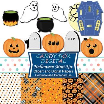 Halloween Haunt Combo Pack w/ Clip Art & Digital Papers