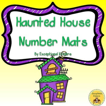 Halloween Haunted House Counting Mats