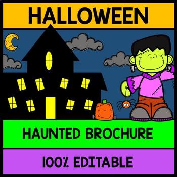 Halloween Haunted House Tour Brochure {100% Editable} {Rea