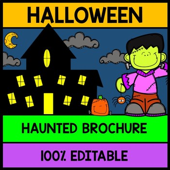 Halloween Haunted House Tour Brochure {100% Editable} {Rea