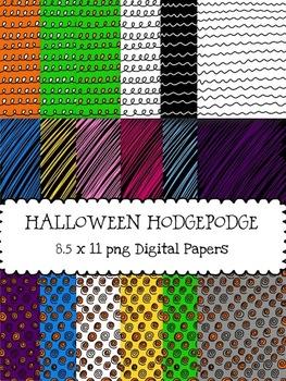 Halloween Hodgepodge Digital Papers